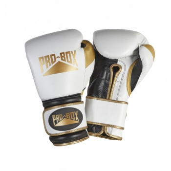 SPECIAL EDITION \'PRO-SPAR\' LEATHER GLOVES - WHITE/GOLD