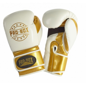 \'CHAMP SPAR\' GLOVES WHITE/GOLD