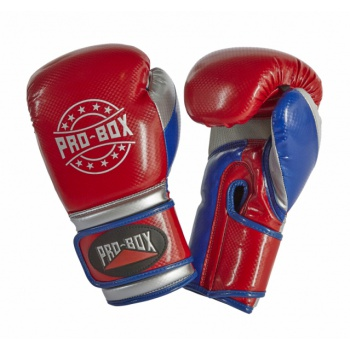 \'CHAMP SPAR\' GLOVES RED/BLUE/SILVER