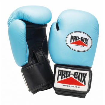 \'BABY BLUE COLLECTION\' LEATHER GLOVES 10OZ