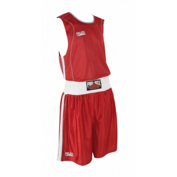 \'BODY TEC\' RED BOXING SHORT