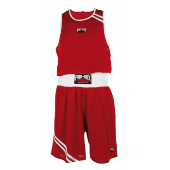 \'CLUB ESSENTIALS\' RED BOXING SHORT