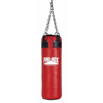 \'RED COLLECTION\' LEATHER HEAVY PUNCH BAG 3FT.