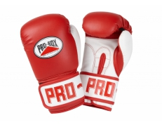 PU CLUB ESSENTIALS RED JUNIOR GLOVES