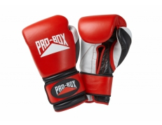 'PRO-SPAR' LEATHER GLOVES - RED