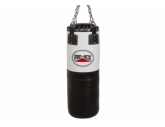 BLACK/WHITE LEATHER HEAVY PUNCH BAG 3FT