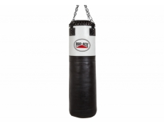 BLACK/WHITE LEATHER SUPER HEAVY PUNCH BAG 4FT