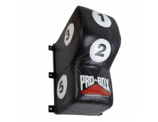 **back in stock**  BLACK/WHITE LEATHER UPPERCUT WALL PAD