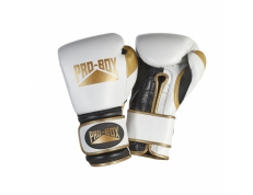 'PRO-SPAR' LEATHER GLOVES - WHITE/GOLD