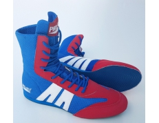 PRO-BOX SENIOR BOXING BOOTS. BLUE-RED