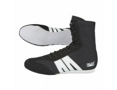 PRO-BOX SENIOR BOXING BOOTS BLACK-WHITE. SIZES: 7-14