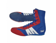 PRO-BOX SENIOR BOOTS. BLUE-RED. SIZES: 7-14