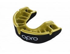 'OPRO' GOLD MOUTH GUARD (BLACK/GOLD)