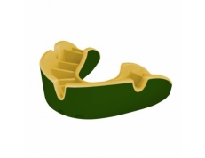 'OPRO' SILVER MOUTH GUARD (GREEN/GOLD)