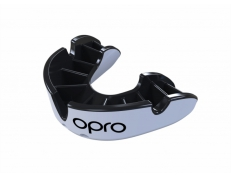 'OPRO' SILVER MOUTH GUARD (WHITE/BLACK)