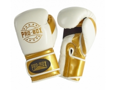 NEW 'CHAMP SPAR' GLOVES WHITE/GOLD