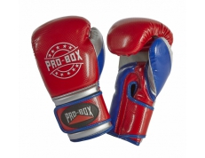 NEW 'CHAMP SPAR' GLOVES RED/BLUE/SILVER