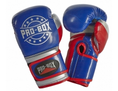 NEW 'CHAMP SPAR' GLOVES BLUE/RED/SILVER