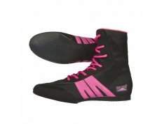 PRO-BOX JUNIOR BOXING BOOTS. BLACK-FUCHSIA. SIZES:1-6