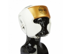 *NEW* CHAMP SPAR HEAD GUARD WHITE-GOLD