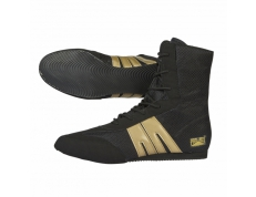 PRO-BOX SENIOR BOOTS. BLACK-GOLD. SIZES: 7 TO 14