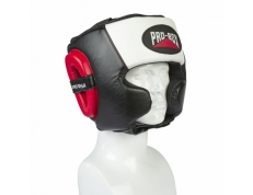 PRO-SPAR HEADGUARD - BLACK/WHITE/RED