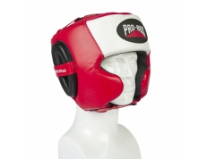 PRO-SPAR HEADGUARD - RED/WHITE/BLACK
