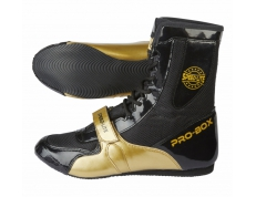 SPEED-LITE BOXING BOOTS BLACK-GOLD. SIZES: 7-14