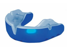 'OPRO' GOLD MOUTH GUARD (BLUE/WHITE)