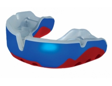 'OPRO' PLATINUM MOUTH GUARD (RED/BLUE/WHITE)
