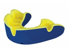 'OPRO' SILVER MOUTH GUARD (BLUE/YELLOW)