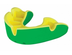 'OPRO' SILVER MOUTH GUARD (GREEN/YELLOW)