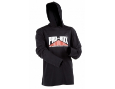 PRO-BOX BLACK HOODED TEE.