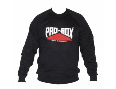 PRO-BOX BLACK SWEAT TOP.