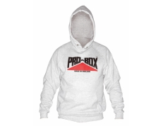 PRO-BOX GREY HOODED SWEAT TOP.