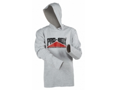 PRO-BOX GREY HOODED TEE.