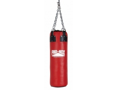 'RED COLLECTION' LEATHER HEAVY PUNCH BAG 3FT.