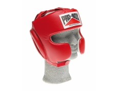 'SUPER-SPAR' LEATHER HEADGUARD - RED