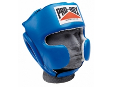 'SUPER-SPAR' LEATHER HEADGUARD - BLUE